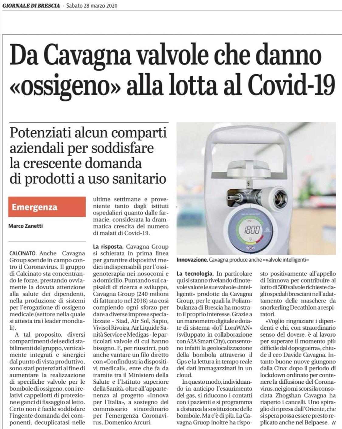Article du journal italien