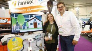 Laure Samica, du service commercial, et Stéphan Guérin, responsable innovation chez Favex, lors du Sett à Montpellier, en novembre 2019.