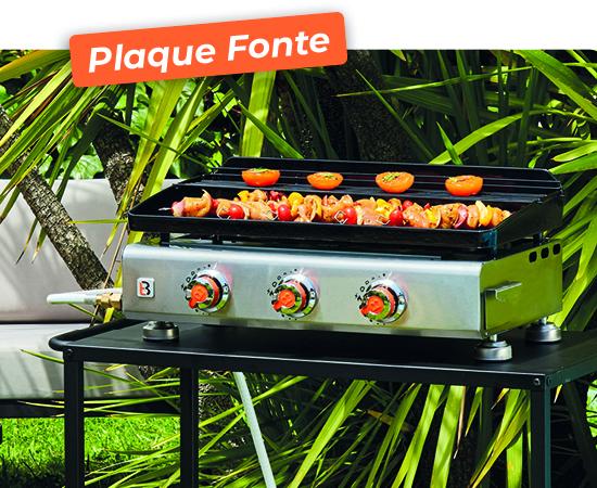 Plancha Silvia Inox 3 FEUX plaque en fonte