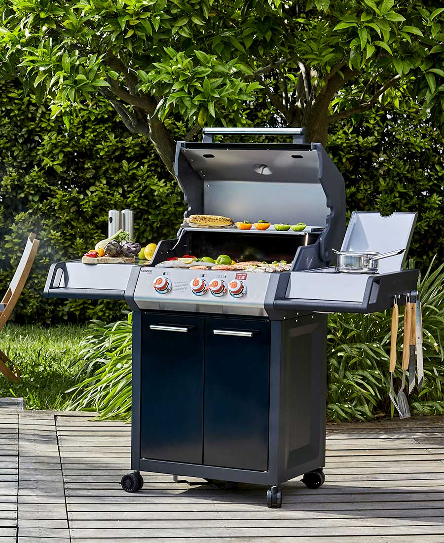 Barbecue Monroe Black Pro 3 Feux + 1